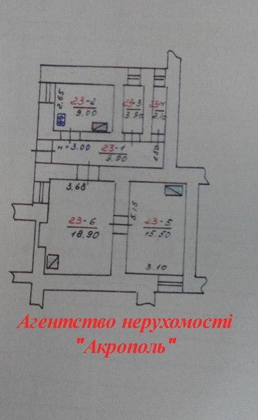 Продається 2-х кім.  «старий фонд» в Центрі @ Агентство нерухомості «Акрополь»